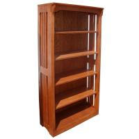 "30"" x 60"" Solid Oak Mission Spindle Bookcases"