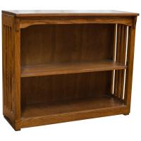 "36"" x 30"" Solid Oak Mission Spindle Bookcases"