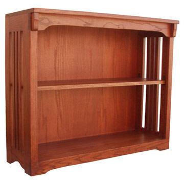 36? x 30? Solid Oak Mission Spindle Bookcases