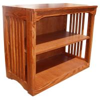"36"" x 30"" x 18"" Solid Oak Mission Spindle Bookcase"