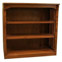 "36"" x 36"" Solid Oak Mission Spindle Bookcases"