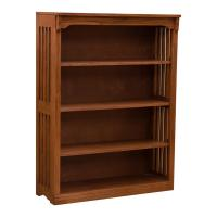 "36"" x 48"" Solid Oak Mission Spindle Bookcases"