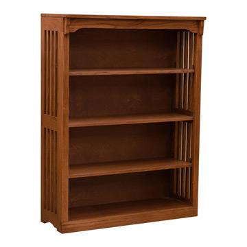 36? x 48? Solid Oak Mission Spindle Bookcases