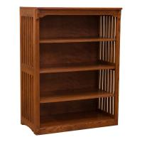 "36"" x 48"" Mission Spindle Bookcase"
