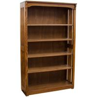"36"" x 60"" Solid Oak Mission Spindle Bookcases"