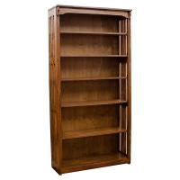 "36"" x 72"" Solid Oak Mission Spindle Bookcases"
