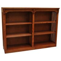 "48"" x 36"" Solid Oak Mission Spindle Bookcases"