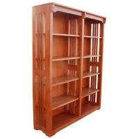 "48"" x 60"" Solid Oak Mission Spindle Bookcases"