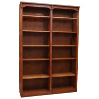 "48"" x 72"" Solid Oak Mission Spindle Bookcases"