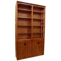 "48"" Mission Spindle Bookcase w/ Doors"