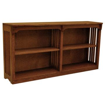 """60"""" x 30"""" Mission Spindle Bookcase"""