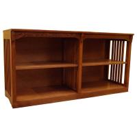 "60"" x 30"" x 18"" Solid Oak Mission Spindle Bookcase"