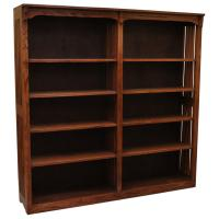 "60"" x 60"" Mission Spindle Bookcase"