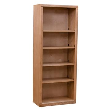 "Contemporary 24""x 60"" Oak Bookcase, Light"