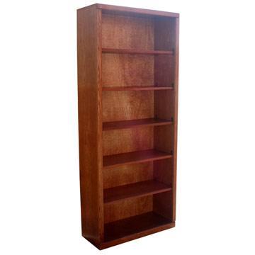 """Contemporary 30"""" x 72"""" Oak Bookcase"""