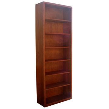 """Contemporary 30"""" x 84"""" Oak Bookcase"""