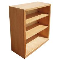 """Contemporary 36"""" x 36"""" Oak Bookcase"""