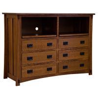 "60"" Amish Mission 6-Drawer Dresser / TV Stand"