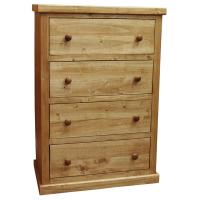 Traditional Pine 4-Drawer Chest, Light