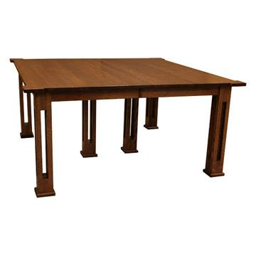 """60""""x60"""" Amish Mission Parker Table w/ 12 Leaves"""