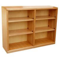 "Contemporary 48"" x 36"" Oak Bookcase, Light Oak"