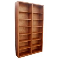 """Contemporary 48"""" x 84"""" Oak Bookcase"""