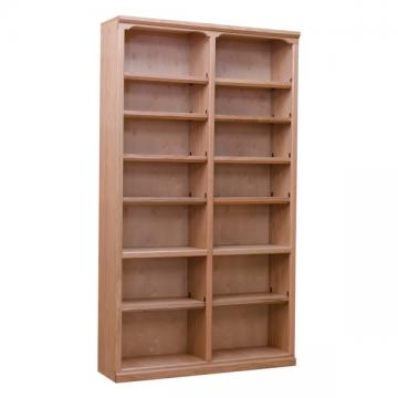 "Traditional 48"" x 84"" Oak Bookcase"