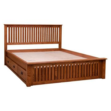 Spindle Bed With Drawers
