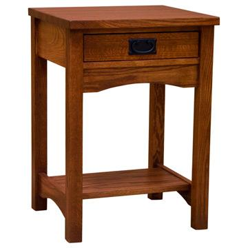 "20"" Small Mission One-Drawer Nightstand"