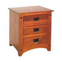 Siesta Mission 3 Drawer Nightstand