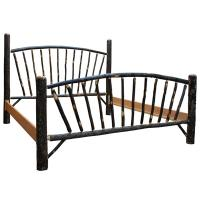 Amish Sunburst Hickory King Bed