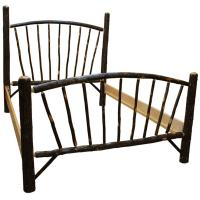 Hickory Sunburst Queen Bed