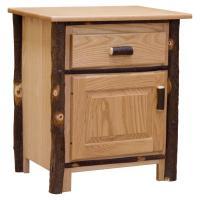 Hickory Drawer & Door Nightstand