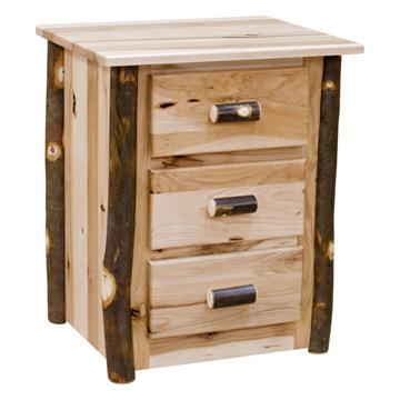 3 Drawer Hickory Night Stand