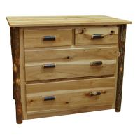 "40"" Amish Hickory 4-Drawer Dresser"
