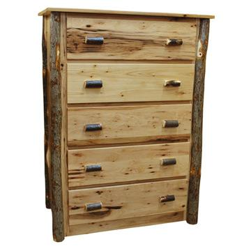 """40"""" Amish Hickory 5-Drawer Chest"""