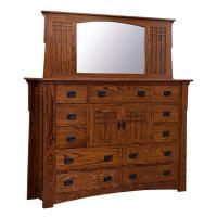 Amish Mission Bungalow 11-Drawer Dresser w/ Doors