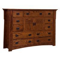 """69"""" Amish Mission Bungalow Mule Dresser"""
