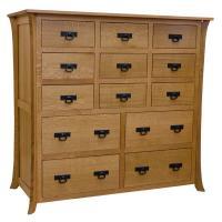 "55"" Amish Mission Carlyl 13-Drawer Dresser"