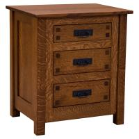 "25"" Amish Mission 3-Drawer Nightstand w/ Inlays"