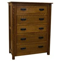 """39"""" Amish Mission 5-Drawer Chest"""