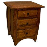 Amish Traditional Hillsdale 3-Drawer Nightstand