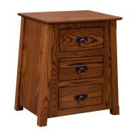 Amish Madison 3-Drawer Nightstand