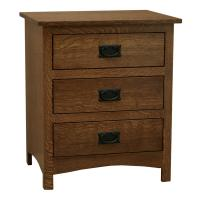 """24"""" Amish Mission Shaker 3-Drawer Nightstand"""