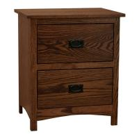 Amish Mission Shaker 2-Drawer Nightstand