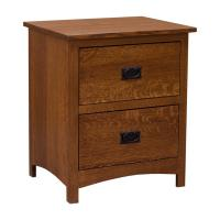 "24"" Amish Mission Shaker 2-Drawer Nightstand"