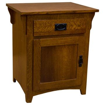 "24"" Amish Mission Shaker Door & Drawer Nightstand"