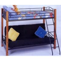 Wood and Iron Twin/Futon Bunk Bed