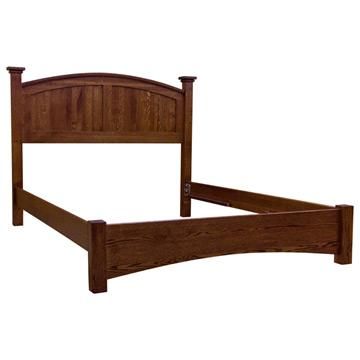 Amish Mission Buck Lowfoot Board Bed