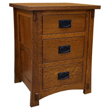 Amish Craftsman 3-Drawer Nightstand